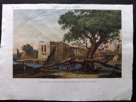 Description de l'Egypte C1820 HCol Print. Vue de l'Aqueduc. Cairo, Egypt